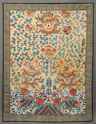 Chinese Qing Imperial embroidery,
