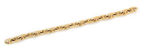 A Yellow Gold Mariner Link Bracelet, 46.95 dwts.