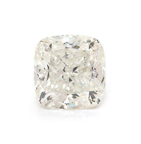 A 3.02 Carat Cushion Shape Diamond,