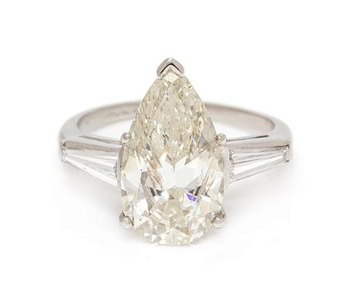 A Platinum and Diamond Ring, 3.60 dwts.