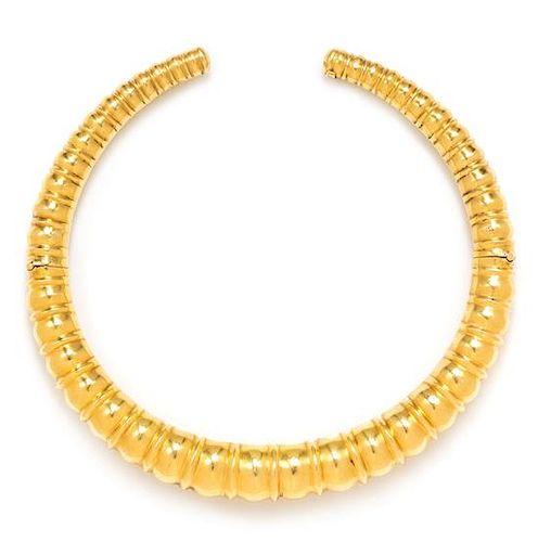 An 18 Karat Yellow Gold Collar Necklace, Lalaounis, 65.70 dwts.