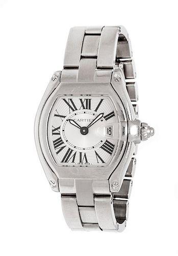 A Stainless Steel Ref. 2675 'Roadster' Wristwatch, Cartier,