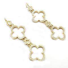 Loree Rodkin 18k Yellow Gold 3ctw Diamond Cross Earrings