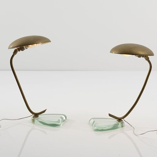 Fontana Arte, Milano (attributed), Two table lights, 1950s by ...