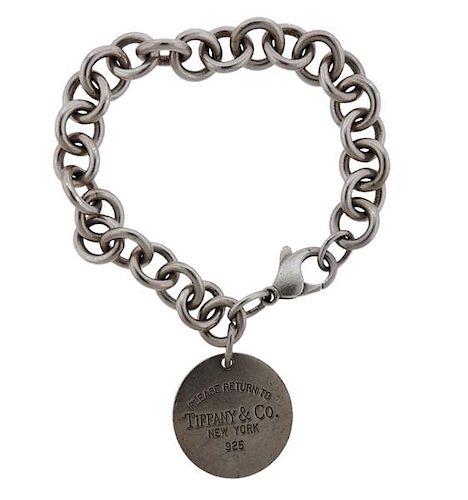 Tiffany & Co Return To Sterling Silver Charm Bracelet
