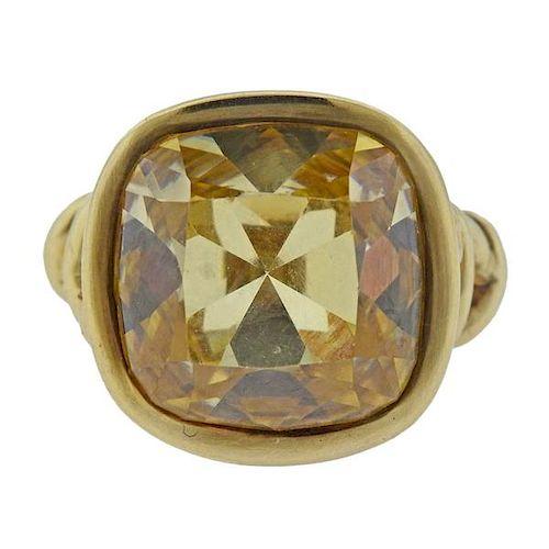 Adria de Haume 18k Gold Yellow Stone Ring