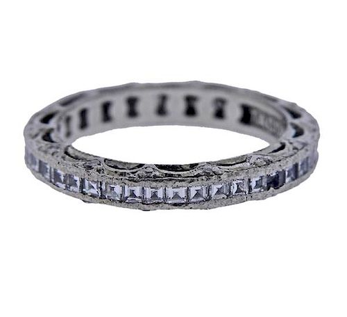 Tacori Platinum Diamond Eternity Wedding Band Ring