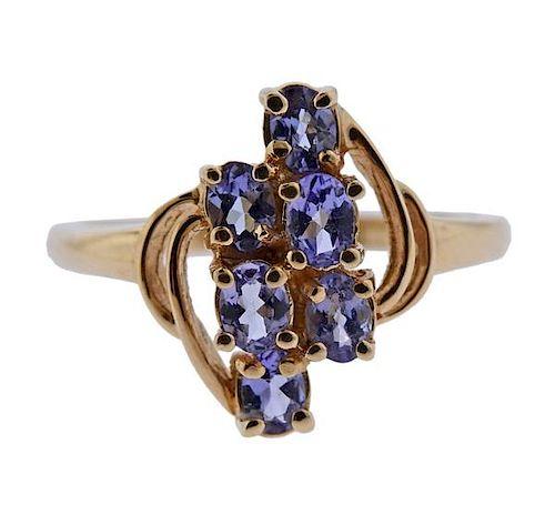 14K Gold Tanzanite Ring