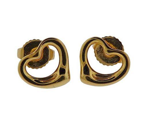 3ff253192 Tiffany & Co Peretti 18K Gold Open Heart Earrings by Hampton ...
