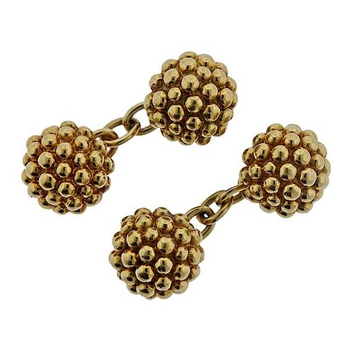 English 18k Gold Cufflinks