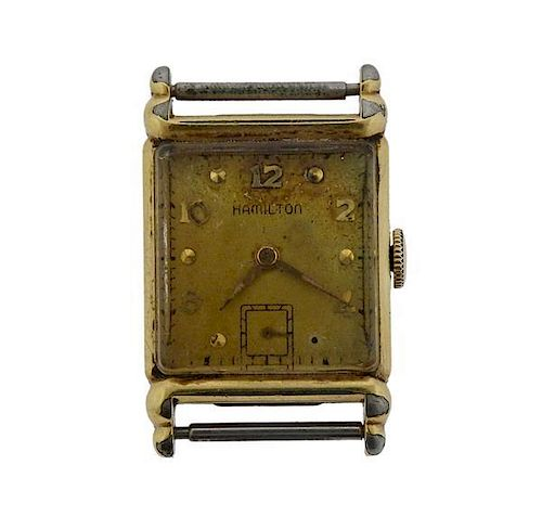 Hamilton 14K Gold Plated Manual Wind Watch