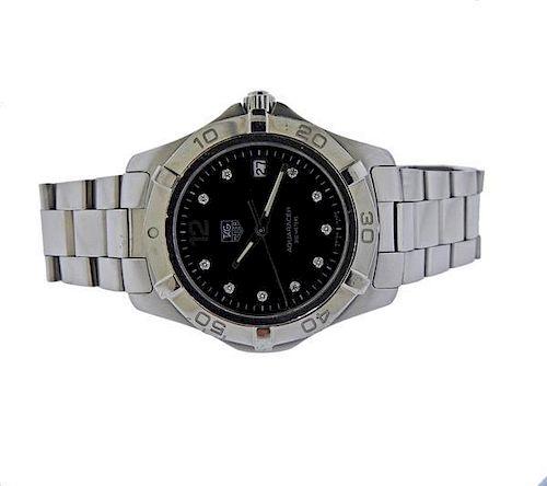 Tag Heuer Aquaracer Steel Diamond Watch WAF1114C
