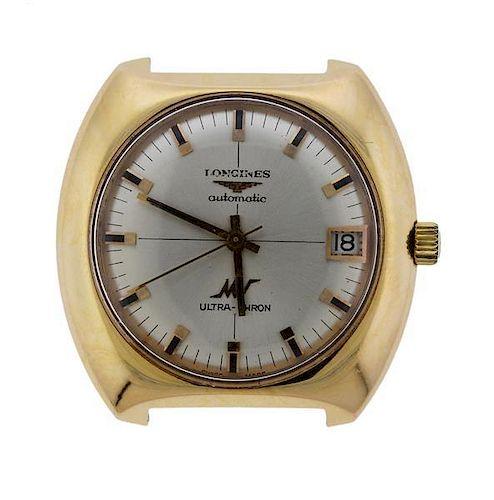 Longines Ultra Chron 18K Gold Automatic Watch