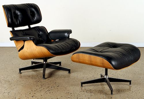 CHARLES EAMES FOR HERMAN MILLER CHAIR & OTTOMAN