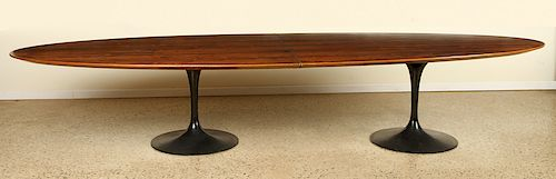 RARE KNOLL ROSEWOOD DINING TABLE TULIP BASES 1960