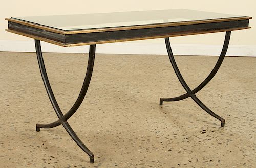 FRENCH IRON COFFEE TABLE MANNER ANDRE ARBUS 1950