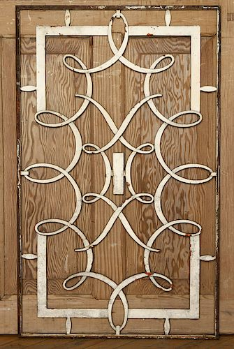 FRENCH WROUGHT IRON PANEL MANNER RAYMOND SUBES