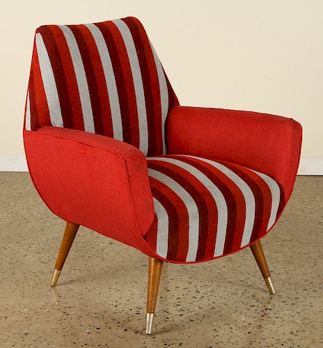 MID CENTURY MODERN UPHOLSTERED CLUB CHAIRS C.1960
