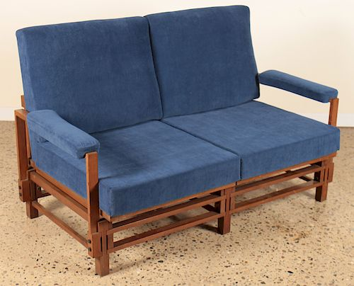 LABELED ISA ITALIAN OPEN ARM SETTEE CIRCA 1960