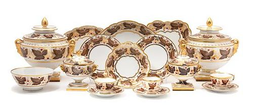 A Worcester Flight Barr & Barr Porcelain Dessert Service Diameter of plates 8 1/4 inches.