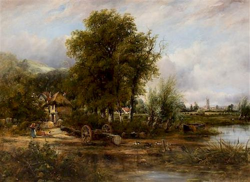 Frederick Waters Watts, (English, 1800-1870), View of Stour, Near Dedham