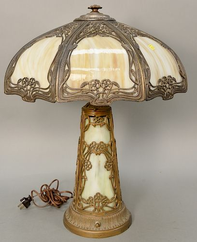 Panel Shade Table Lamp With Light Up