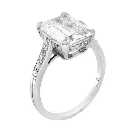 GIA 2.19ct Emerald Cut Diamond Ring