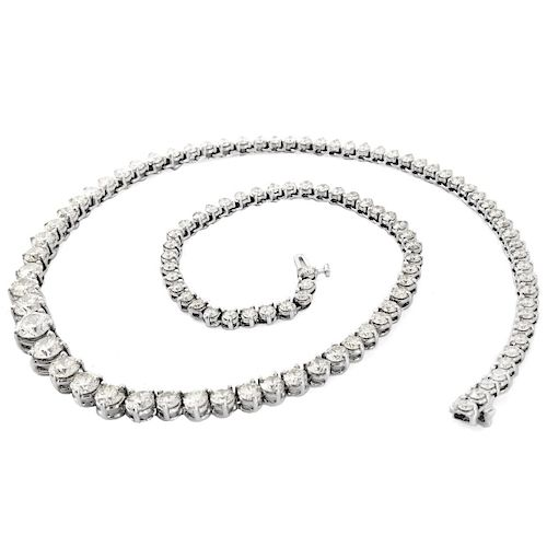 18.36ct TW Diamond and 14K Diamond Necklace