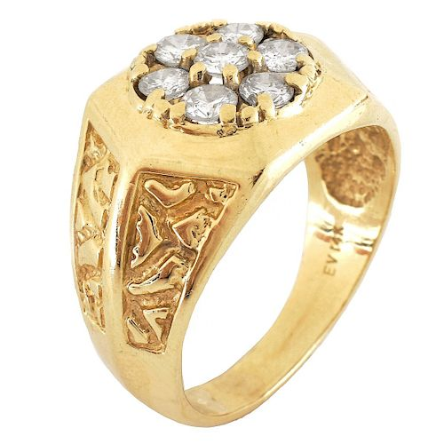Man's Diamond and 14K Gold Ring by Kodner Galleries - 1301269