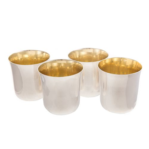 Set of 4 Irish Silver Tumblers