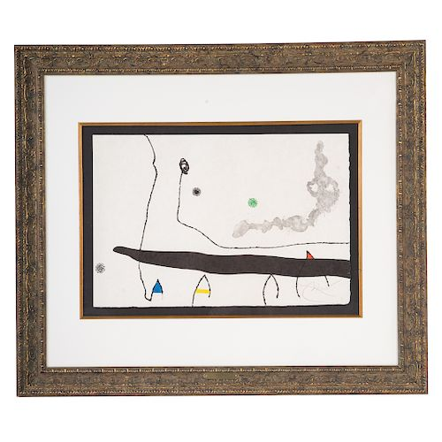 Joan Miro. Untitled, etching and aquatint
