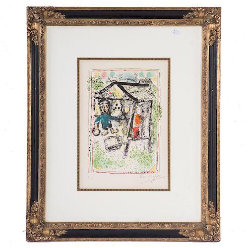 """Marc Chagall. """"Le Peintre Devant le Village I"""""""
