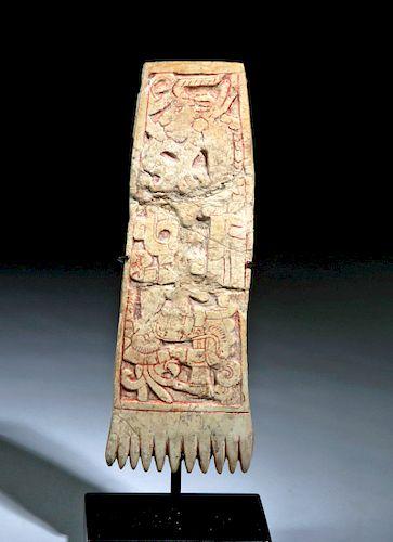 Maya Long Bone Comb w/ Sacrificial Human Skull by Artemis Gallery
