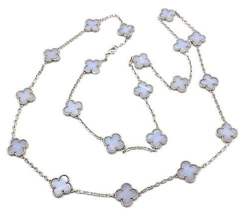 Van Cleef & Arpels 18k White Gold Vintage Alhambra 20