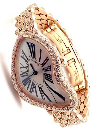 Cartier Limited Ed. Crash 18k Rose Gold Diamond Watch