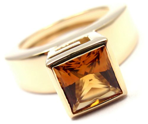 Gucci 18k Yellow Gold Citrine Ring