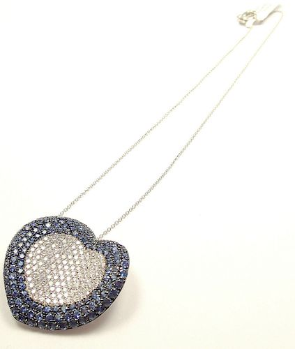 Pasquale Bruni 18k WG ONDA COLORE Diamond/Sapphire