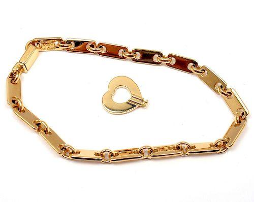 Cartier 18k Yellow Gold Fidelity Heart Key Bar Link