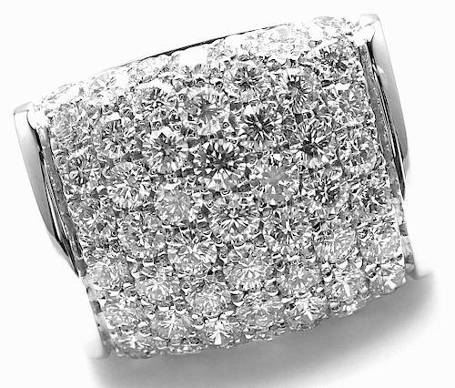 Bulgari 18k White Gold 3.5ct Diamond Ring