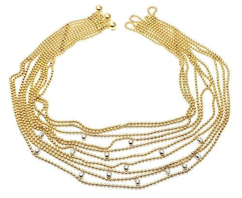 Cartier Draperie de Decollete 18k Gold Diamond Necklace