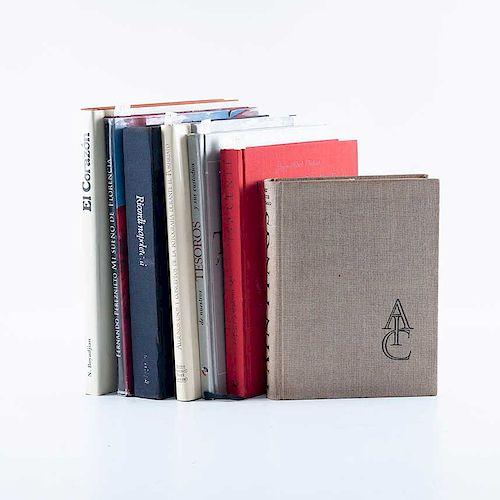 Lote de libros sobre fotos del Porfiriato y arte europeo. Siglo XX. Consta de: a) Matabuena Peláez, Teresa. Piezas: 7