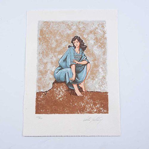 Victor Gutiérrez. Sonia. Serigrafía, 147/200 Firmada. Con certificado de autenticidad. 26 x 19.5 cm