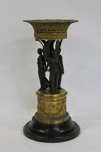 CHIBOUT. Empire Patinated and Gilt Bronze Figural