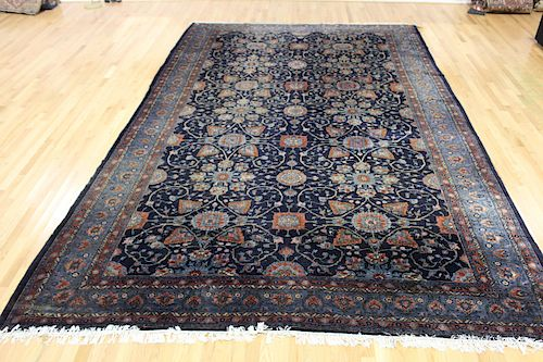 Palace Size Finely Hand Woven Antique Carpet.