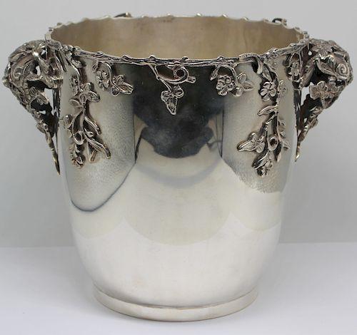 SILVER. Handmade Italian .800 Silver Ice Bucket.