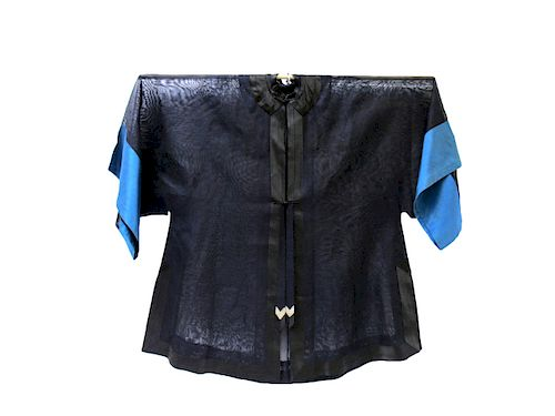 Navy Blue Gauze Official's Robe.
