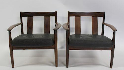 MIDCENTURY. Pair Of Greta Jalk Rosewood Arm Chair