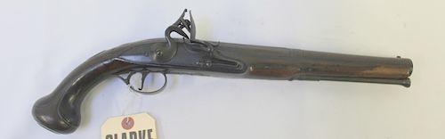 An Antique Carbonell of Barcelona Flintlock Pistol