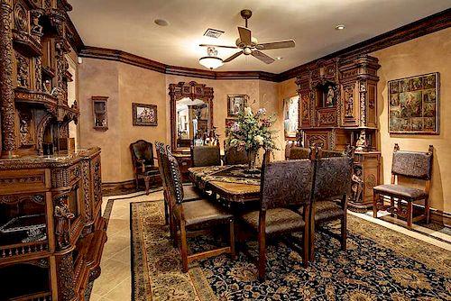 Impressive French Carved Oak Dining Suite
