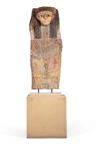 An Egyptian sarcophagus cover, Late to Ptolemaic
